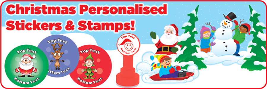Personalised Stickers Christmas designs