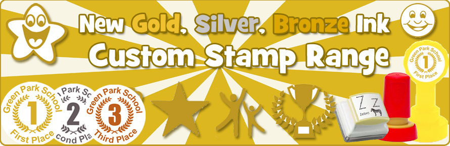 Gold Ink Custom Teacher Stamps