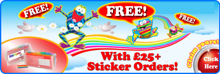Free sticker folder with orders teacher stickers orders £25+!