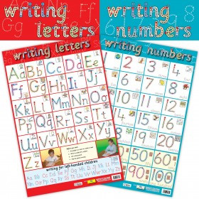School Posters | 2-in-1 Writing Letters and Writing Numbers