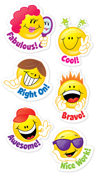 Stickers for School | Cool Smley Face Shaped Reward Stickers for Kids