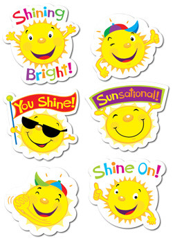 Stickers for School | Sun Smiles Shaped Reward Stickers for Kids