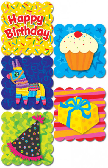 Smelly Stickers | Happy Birthday Cotton Candy / Candy Floss Kids Stickers