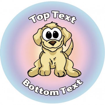 Personalised Stickers for Kids | Playful Pup Design to Customise for Teachers