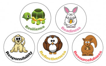 Teacher Stickers | Lifelong Learning Character Stickers - 70 per sheet