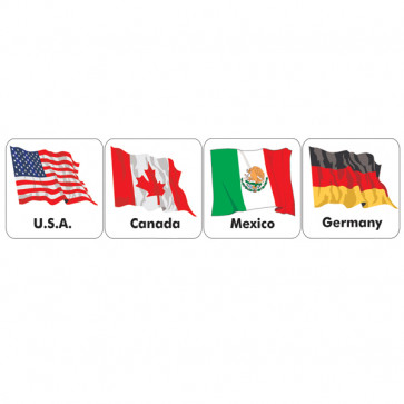 School Stickers | Flags of the World - 20 Countries