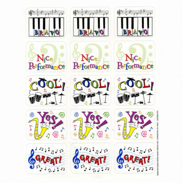 Music Stickers | Praise Sticker for Music Teachers