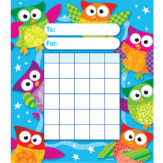 Reward Chart Pads - 36 sheets | Wise Owl Stars Design