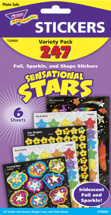 Kids Stickers | Sensational Stars Variety Sticker Pack for Kids