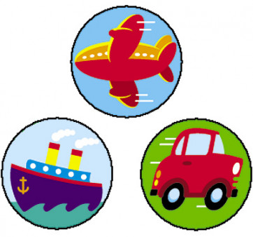 Tiny Transports Merit Stickers for Children