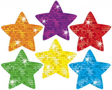 Super Stars Glitter Teachers Stickers
