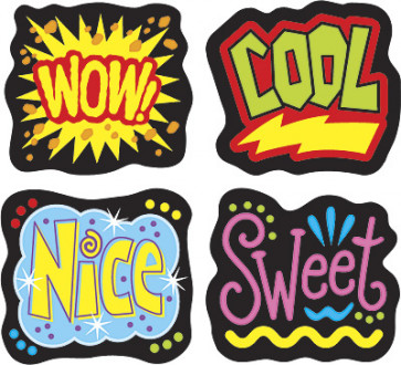 Cheerful Words Merit Stickers for Teachers