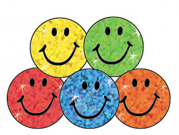 Colourful Smiles Sparkly Children's Stickers