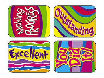 Outstanding Words Teachers Stickers for the Classroom