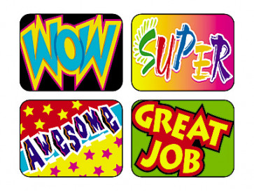 Wow Words Reward Stickers for Children in the Classroom