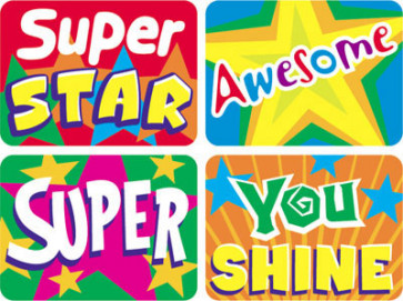 Stars Teacher School Stickers for Children