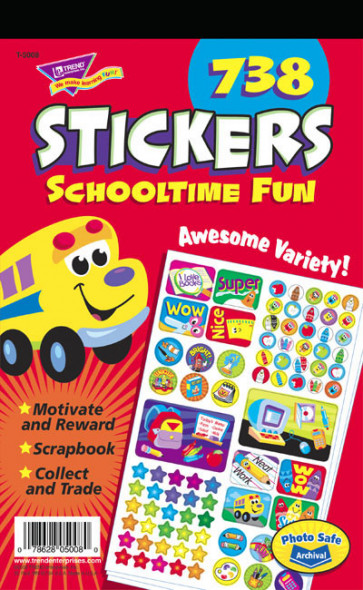 School-time Fun Sticker Pad for Kids