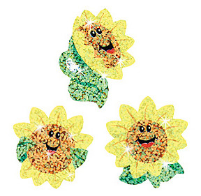 Shiny Sunflowers Childrens Stickers