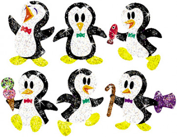 Proud Penguins Shiny Stickers for School