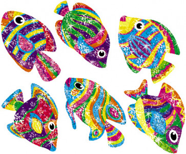 Flashy Fish Glitter Teachers Stickers