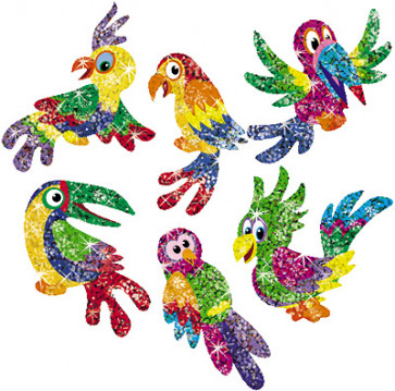 Totally Tropical Children's Glitter Stickers for School