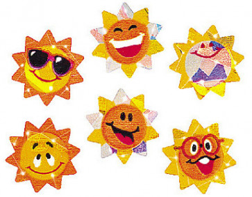 Reward Stickers | Sunny Smiles Sparkly Teacher Stickers