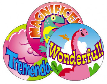 Dino Fun - Strawberry Scented Smelly Stickers for School