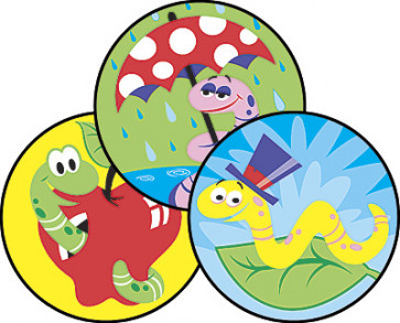 Wiggly Worms Dirt Scented Stinky Stickers for School