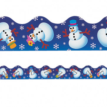 Classroom Borders | Fun Snowman Christmas / Winter Borders for Classroom Displays