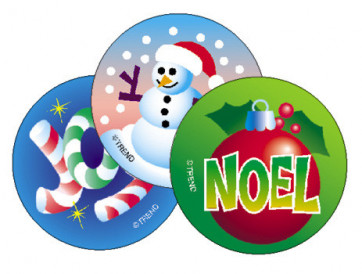 Kids Stickers | Christmas Scratch and Sniff Stickers for Children (Peppermint Scent)