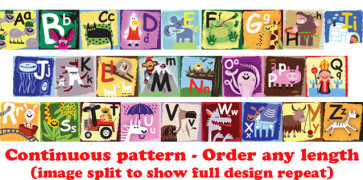 Self-Adhesive Classroom Borders | ABC Design - Order by the metre