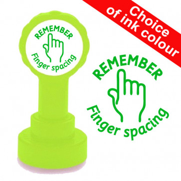 Teacher Stamp | Remember Finger Spacing School Stamp