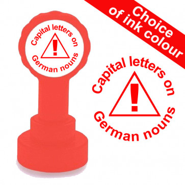 Teacher Stamp | Capital letters on German nouns Teacher Stamp
