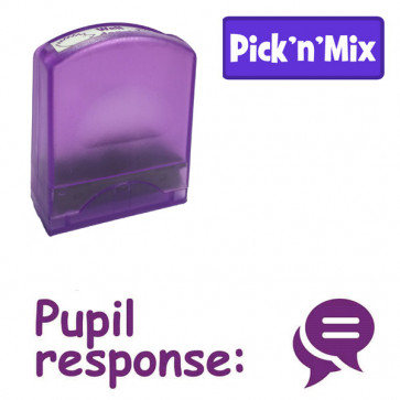 School stamps | Pupil response: - Speech Bubble Design Value Stamp