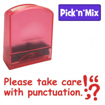 Teacher Stamps | Take care with punctuation, Literacy reminder self-inking stamp.