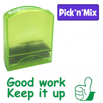 School Stamps | Green ink, Good work, Keep it up, Teacher Praise Stamp