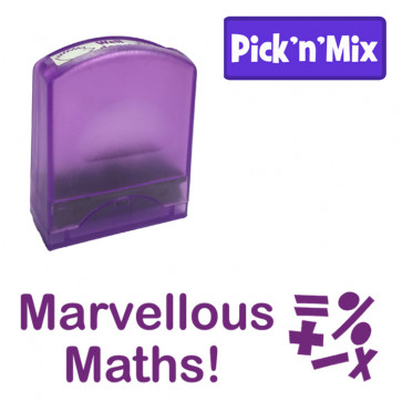 School Stamps | Marvellous Maths, Self-inking Value Teacher Stamp