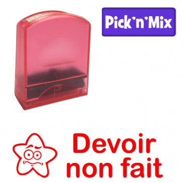 Teacher Stamps | Devoir non fait. Self-inking. Reinkable Value Range