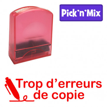 Teacher Stamps | Trop d'erreurs de copie. Self-inking. Reinkable Value Range