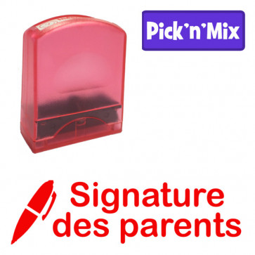 Teacher Stamps | Signature des parents Self-inking. Reinkable Value Range