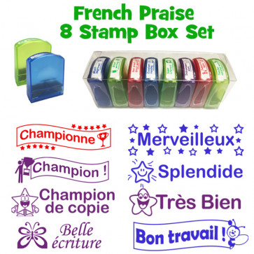 Teacher Stamps | Literacy Marking School Stamps - Boxed set