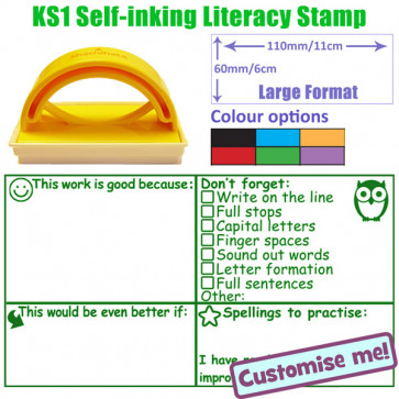 Large Format Teacher Stamp | Key Stage 1 Literacy Checklist Stamp