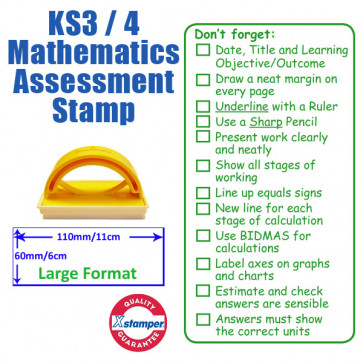 Large Format Teacher Stamp | Key Stage 3 / 4 Mathematics Assessment Stamp