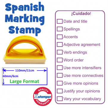 Teacher Stamp | Large format checklist marking stamp