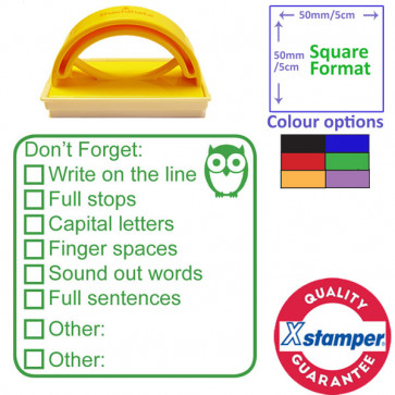 Teacher Stamp | Stage 3 of 3, Writing Self / Peer Assessment
