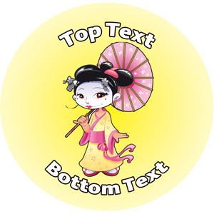 Personalised Stickers for Teachers | Japanese Costume Design to Customise for Kids