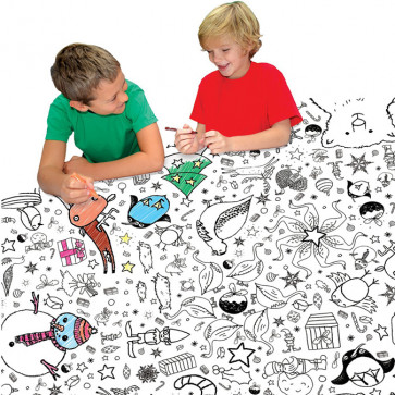 Colour In | EggNogg Colouring in Giant Paper Tablecloth or Poster - Christmas Design