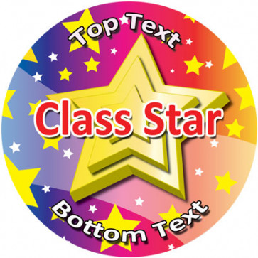 Personalised Stickers for Kids | Class Star Reward Designs to Customise for Teachers