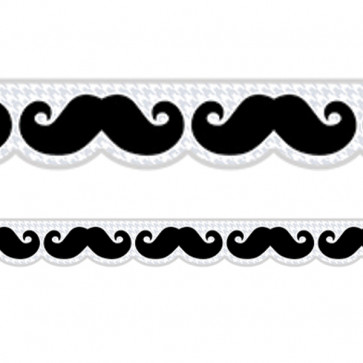 Classroom Display Resources | Fun Moustache Mania Borders / Trimmers