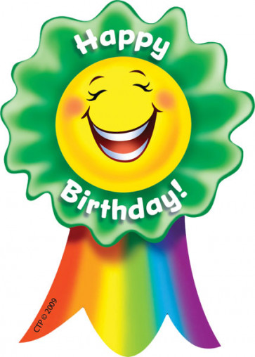 Kids Sticker Badges | Large Happy Birthday Childrens School Stickers